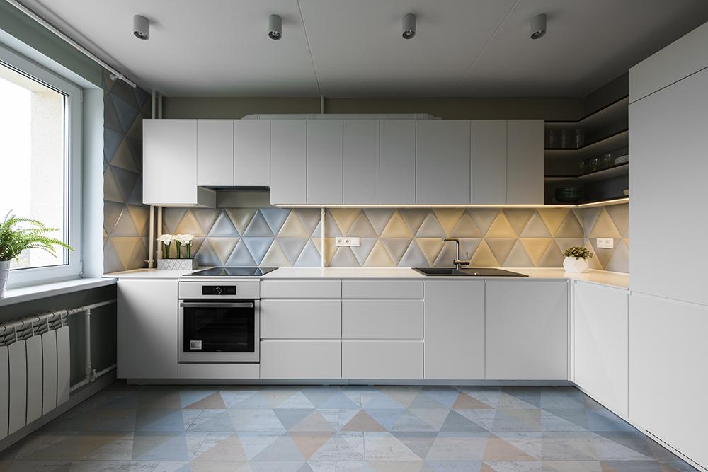 Buto interjero dizainas, virtuvės projektas